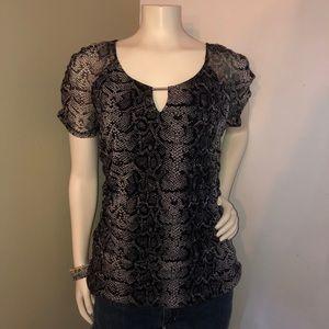 EUC INC snakeskin print blouse Size L
